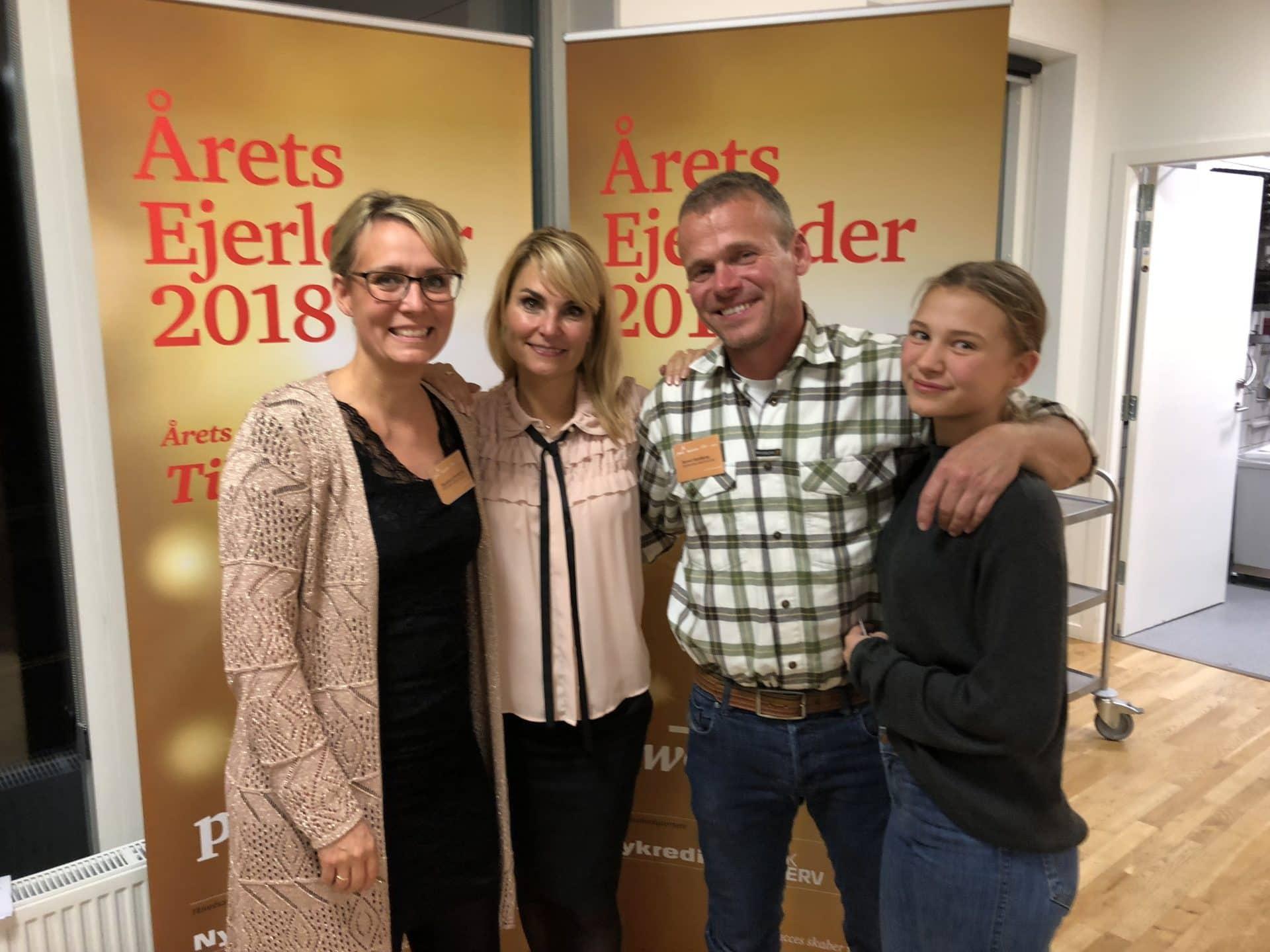 Årets ejerleder 2018 PwC Emblem. Marianne og Bertel Hestbjerg