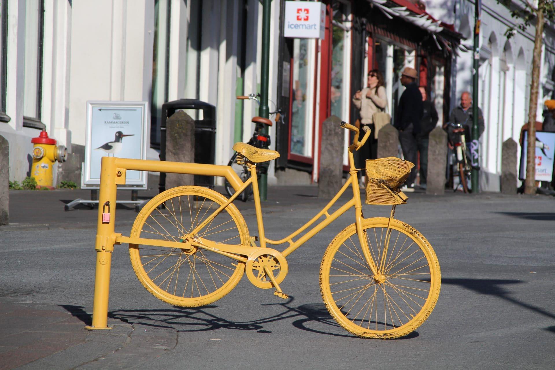 Gul cykel Island